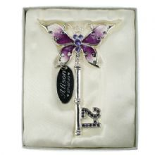 21st Birthday Lilac Butterfly Key